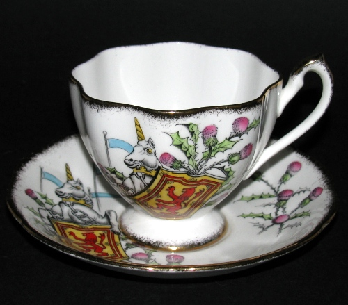Queen Anne Unicorn Queen's Beasts Teacup and Saucer