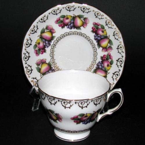 Colclough Fanciful Fruits Teacup and Saucer