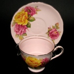 Pink Yellow Roses Teacup