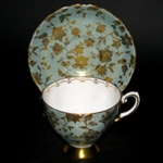 Green Gilt Teacup
