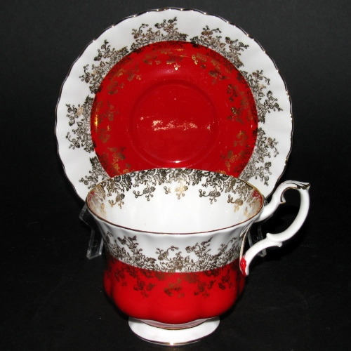Royal Albert Regal Series Red Teacup and Saucer