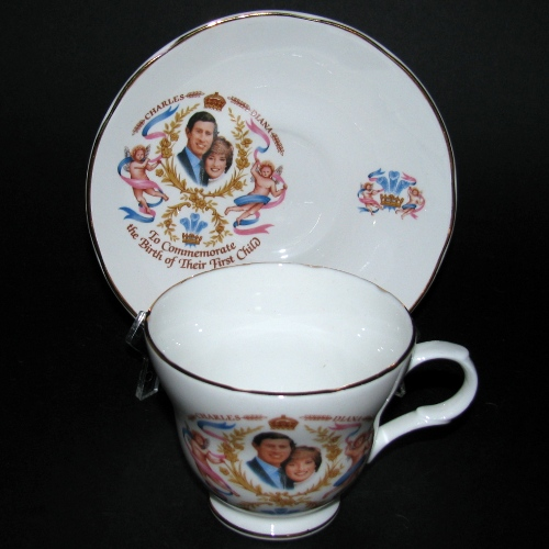 Crown Trent Charles Diana First Child Teacup