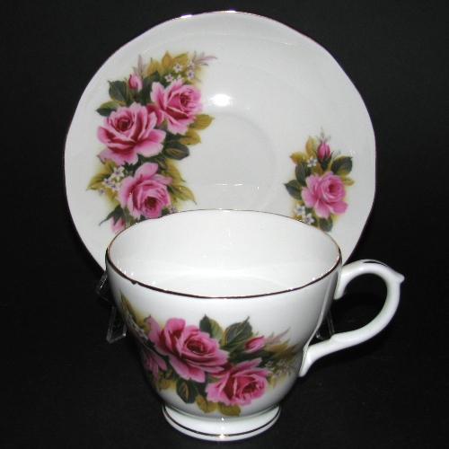 Duchess Red Pink Roses Teacup