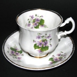 Purple Violets Teacup