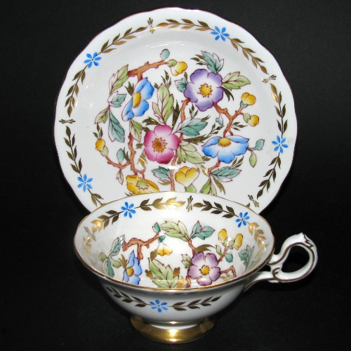 Royal Chelsea Floral Gilt Teacup