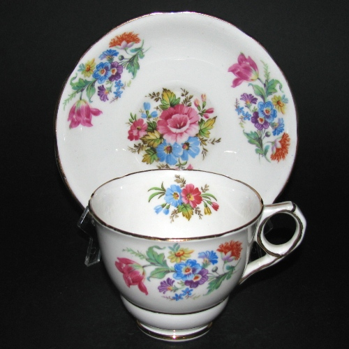 Royal Stafford Colorful Bouquet Teacup