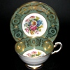 Paragon Green Gilt Teacup