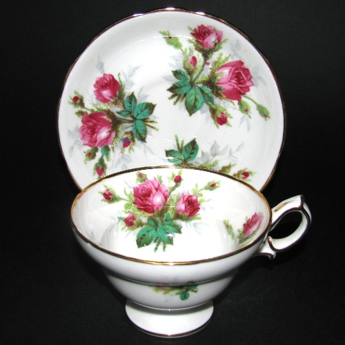 Hammersley Grandmother's Rose Teacup and Saucer