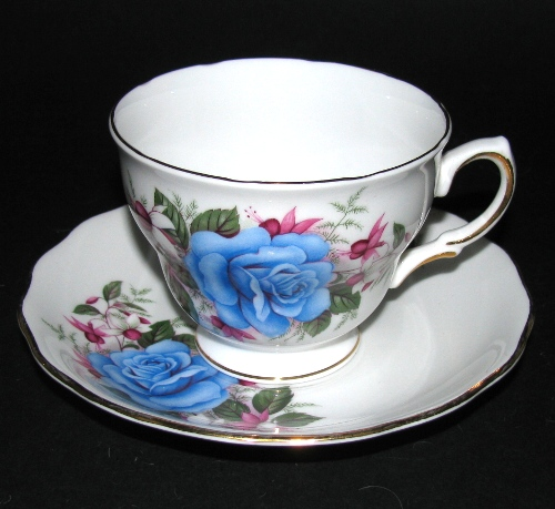 Royal Vale Blue Rose Teacup
