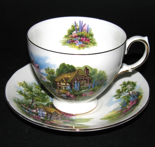 Royal Vale Country Cottage Teacup