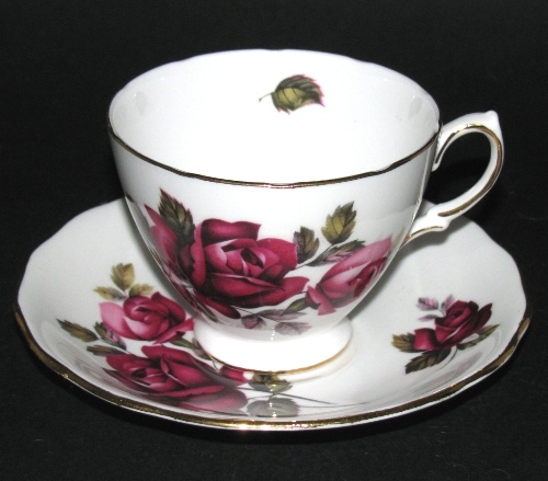 Royal Vale Red Rose Teacup