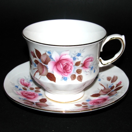Queen Anne Pink Roses Teacup