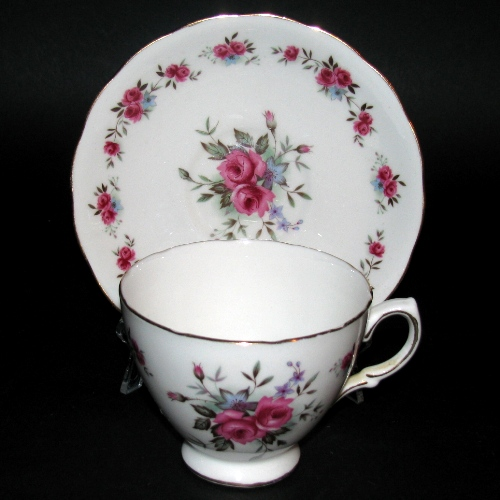 Queen Anne Small Pink Roses Teacup