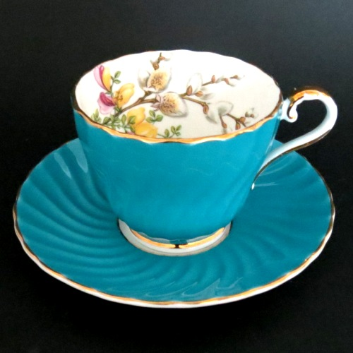 Pussy Willow Teacup and Saucer