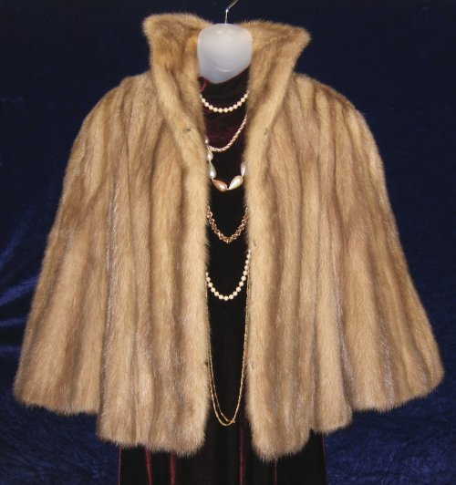 09f1a2c88a7 Mink Cape Hudson Bay Company at Classy Option - Ash Brown Mink Fur ...