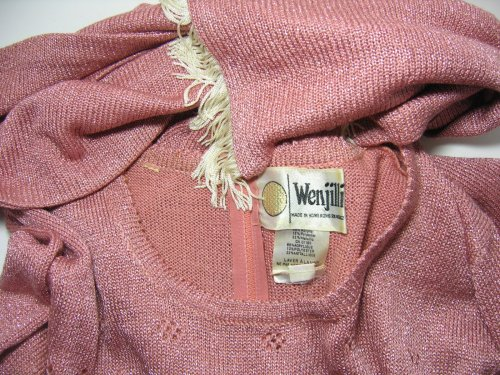 Wenjilli Tag Name Pink  Knit Dress
