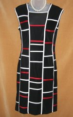 Joseph Ribkoff Black Geometric Dress