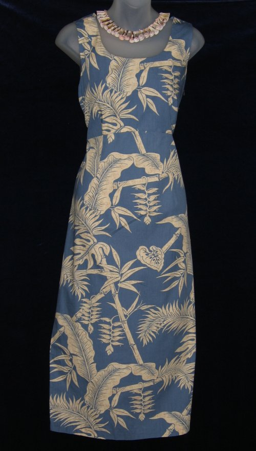 Hilo Hattie Blue Hawaiian Tropical Dress and Jacket