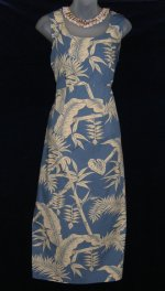 Hilo Hattie Blue Hawaiian Dress Set