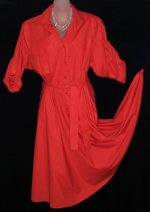 Ms. Chaus Red Shirt Dress
