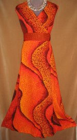 Harriet's Lava Hawaiian Gown