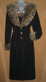 Faux Animal Print Suit