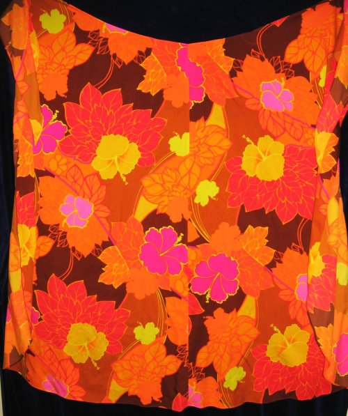 FABULOUS 70s flower power print sarong by POMARE