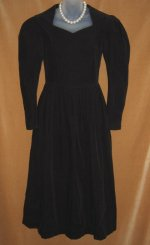 Laura Ashley Navy Corduroy Dress