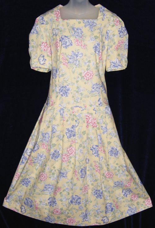 Vintage Laura Ashley Cotton Wide Sweep Summer Dress