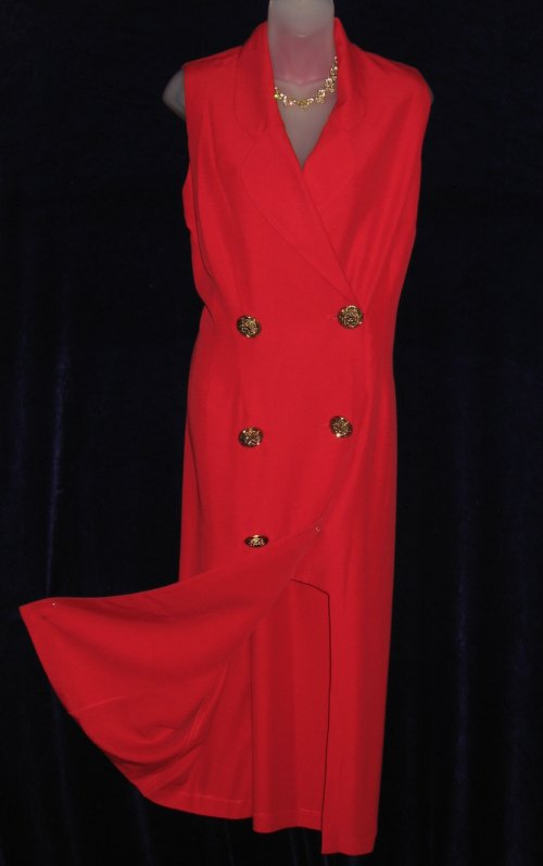 Joseph Ribkoff Red Double Breasted Dress