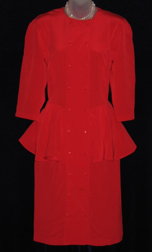 Joseph Ribkoff Red Double Breasted Suit Dress