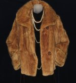Vintage Muskrat Fur Cocktail Jacket