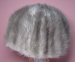 Vintage Gray Mink Tail Hat