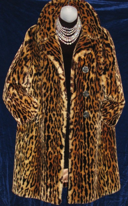 Mouton Leopard Cheetah Print Fur Coat At Classy Option