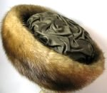 Mink Fur Hat Satin Top