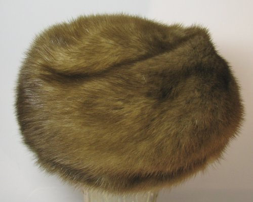 Brown Mink Hat Natural Vintage