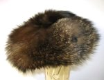 Natural Racoon Fur Hat