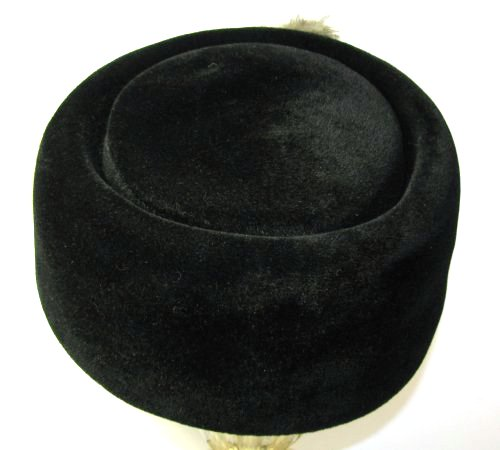 Black Velvet Felt Fur Hat