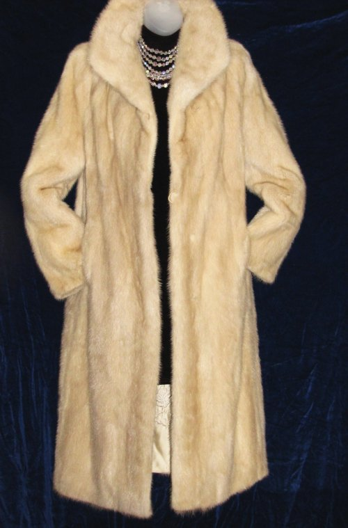 Blush Mink Coat Full Length at Classy Option - Vintage Mink Fur Coat