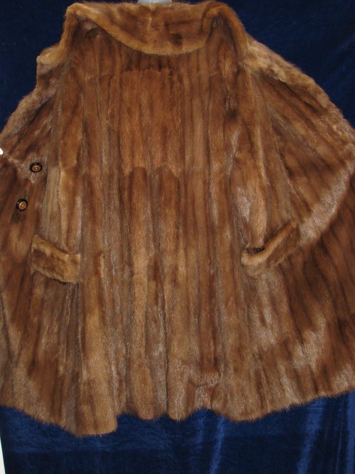 Back View Beaver Fur Coat