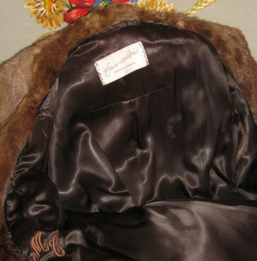Inside Lining of Beaver Fur Coat