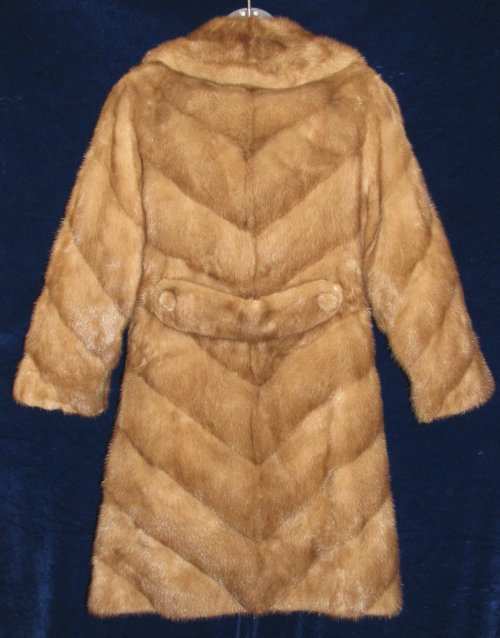 Back View Chevron Mink Jacket