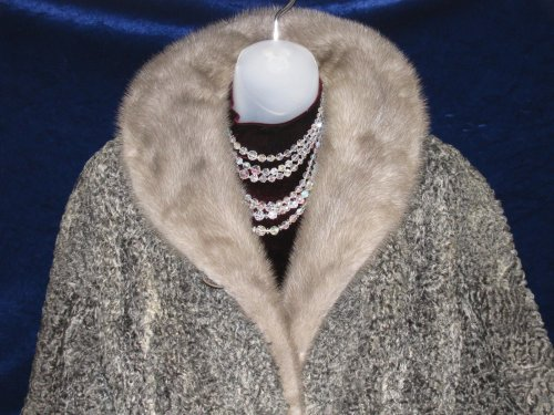 Mink Collar on Persian Lamb Coat
