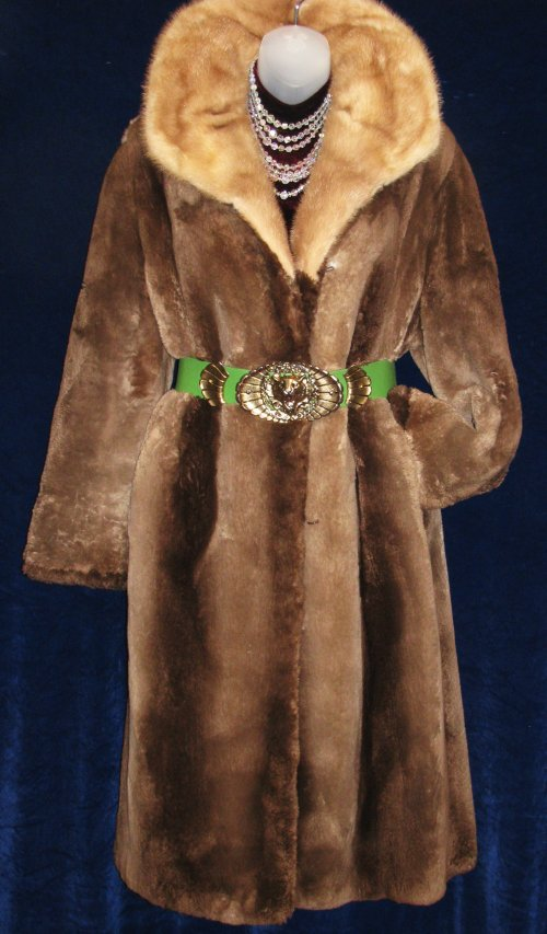 Sheared Phantom Beaver Fur Coat