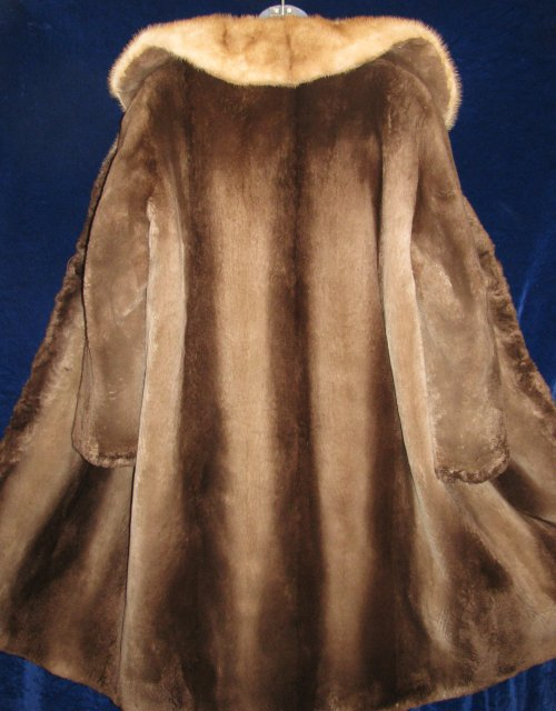 Sheared Phantom Beaver Fur Coat Back View