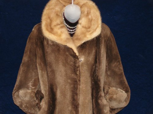 Mink Collar on Beaver Fur Coat