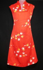 Fire Red Japan Style Hawaii Dress