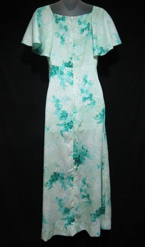 Hukilau Green Hawaii Dress