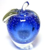 Blue Sommerso Apple Paperweight