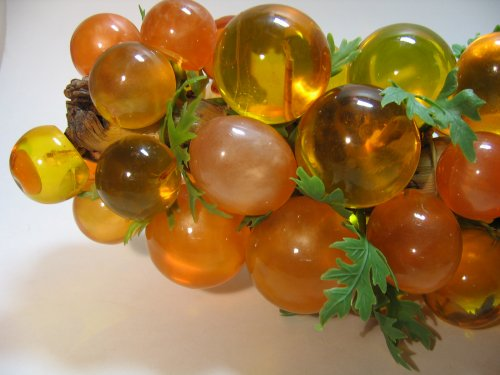 Lucite Orange Large Grapes Eames Era At Classy Option